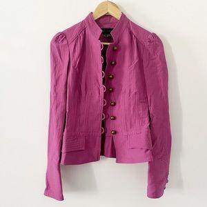 Zara Woman Military Style Fuscia button jacket